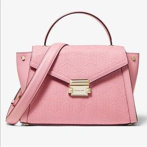 MK Whitney Medium Deco Quilted Leather Satchel